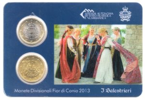 (EUR18.MK.2013.1.000000002) Mini-kit 50 cent et 1 euro Saint-Marin 2013 BU - Arbalétriers Recto (zoom)