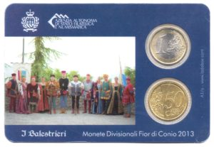 (EUR18.MK.2013.1.000000002) Mini-kit 50 cent et 1 euro Saint-Marin 2013 BU - Arbalétriers Verso (zoom)