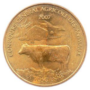 (FMED.Méd.even.2007.CuAlNi1.sup.000000001) Concours général agricole des animaux Avers (zoom)