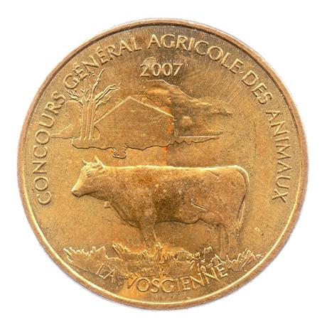 (FMED.Méd.even.2007.CuAlNi1.sup.000000001) Jeton événementiel - Concours général agricole des animaux Avers