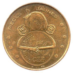 (FMED.Méd.souv.2006.CuAlNi1.sup.000000001) Jeton souvenir - Pièces jaunes Avers (zoom)