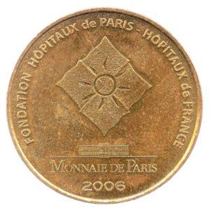 (FMED.Méd.souv.2006.CuAlNi1.sup.000000001) Jeton souvenir - Pièces jaunes Revers (zoom)