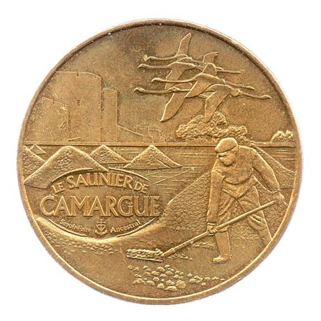 (FMED.Méd.souv.2010.CuAlNi1.ttb+[]sup.000000001) Jeton souvenir - Le Saunier de Camargue Avers