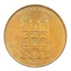 (FMED.Méd.tourist.2001.CuAlNi1.sup.000000001) Jeton touristique - Notre-Dame de Paris Avers