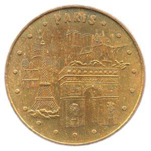 (FMED.Méd.tourist.2008.CuAlNi2.ttb+[]sup.000000001) Tourism token - Parisian monuments Obverse (zoom)