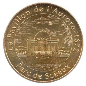 (FMED.Méd.tourist.2008.CuAlNi3.spl.000000001) Jeton touristique - Pavillon de l'Aurore Avers (zoom)