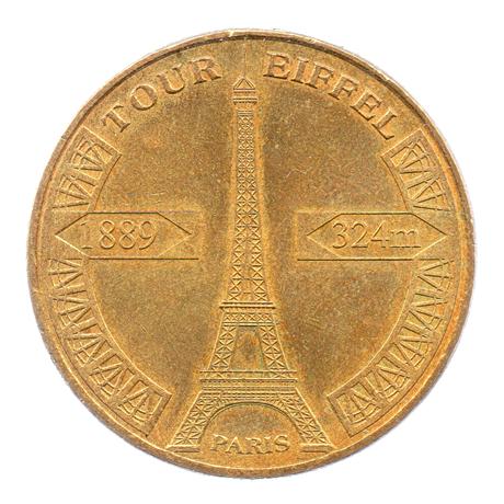 (FMED.Méd.tourist.2010.CuAlNi1.sup.000000001) Jeton touristique - Tour Eiffel Avers