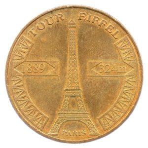 (FMED.Méd.tourist.2010.CuAlNi1.sup.000000001) Tourism token - Eiffel Tower Obverse (zoom)