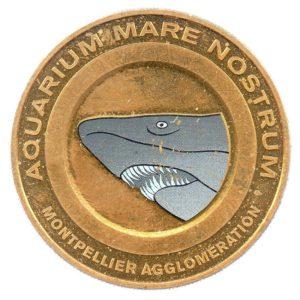 (FMED.Méd.tourist.2012.CuAlNi-1.ttb+[]sup.000000001) Tourism token - Aquarium Mare Nostrum Reverse (zoom)