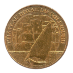 (FMED.Méd.tourist.2013.CuAlNi3.sup.000000001) Jeton touristique - Château royal de Collioure Avers