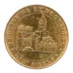 (FMED.Méd.tourist.2015.CuAlNi1.-3.1.1.sup.000000001) Jeton touristique - Eglise de Saint-Nectaire Avers