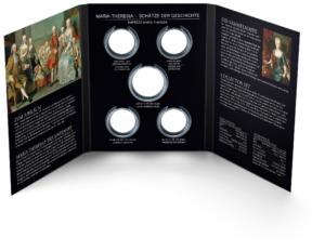(MATMünzeÖ.Alb&feu.Alb.22650) Album collector Monnaie d'Autriche - Marie-Thérèse (ouvert) (zoom)