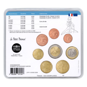Mini-set BU France 2018 - Naissance garçon Verso (zoom)