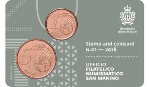 1 and 5 cent & 1,00€ San Marino 2018 - Piazza della Libertà & Palazzo Pubblico Back (zoom)