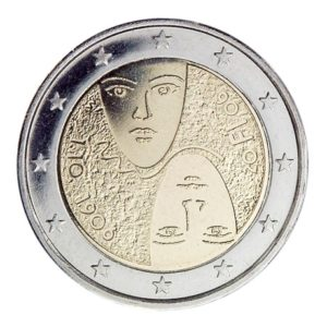 2 euro commémorative Finlande 2006 - Suffrage Universel Avers