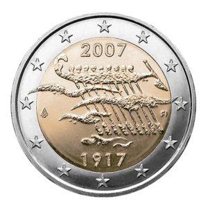2 euro commémorative Finlande 2007 - Indépendance de la Finlande Avers