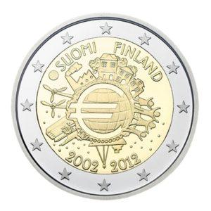 2 euro commémorative Finlande 2012 - 10 ans de l'euro fiduciaire Avers