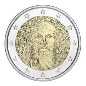 2 euro commémorative Finlande 2013 - Frans Eemil Sillanpää Avers