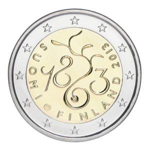2 euro commémorative Finlande 2013 - Parlement Avers