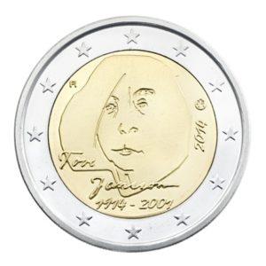 2 euro commemorative coin Finland 2014 - Tove Jansson Obverse