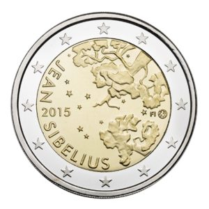 2 euro commemorative coin Finland 2015 - Johan Julius Christian Sibelius Obverse