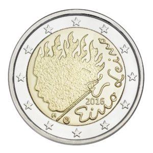 2 euro commemorative coin Finland 2016 - Eino Leino Obverse