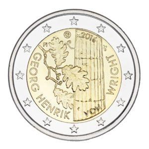 2 euro commemorative coin Finland 2016 - Georg Henrik von Wright Obverse