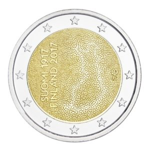 2 euro commemorative coin Finland 2017 - 100th anniversary of Finland's independence Obverse