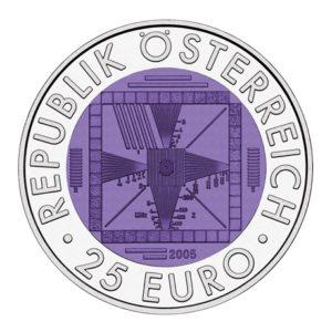 25 euro Autriche 2005 - Télévision autrichienne Avers