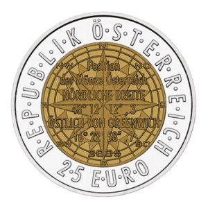 25 euro Autriche 2006 - Navigation européenne par satellite Avers
