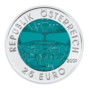 25 euro Autriche 2007 - Aviation autrichienne Avers