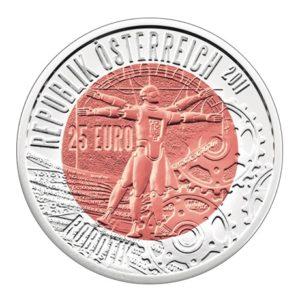 25 euro Autriche 2011 - Robotique Avers
