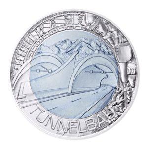 25 euro Autriche 2013 - Construction de tunnels Revers
