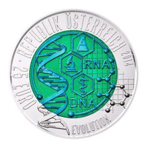 25 euro Autriche 2014 - Evolution Avers