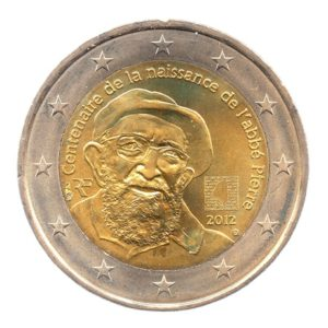 (EUR07.200.2012.COM2.spl.000000001) 2 euro commémorative France 2012 - Abbé Pierre Avers