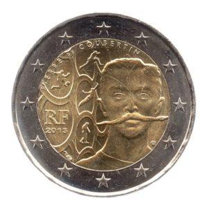 (EUR07.200.2013.COM2.spl.000000001) 2 euro commémorative France 2010 - Pierre de Coubertin Avers