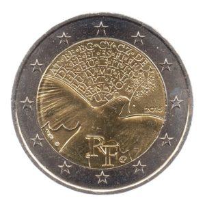 (EUR07.200.2015.COM1.spl.000000001) 2 euro commémorative France 2015 - Paix en Europe Avers