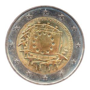 (EUR07.200.2015.COM3.spl.000000001) 2 euro commémorative France 2015 - Drapeau européen Avers