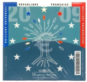 (EUR07.CofBU&FDC.2009.Cof-BU.000000001) Brilliant Uncirculated coin set France 2009 Back (zoom)