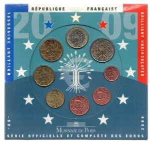 (EUR07.CofBU&FDC.2009.Cof-BU.000000001) Brilliant Uncirculated coin set France 2009 Front (zoom)