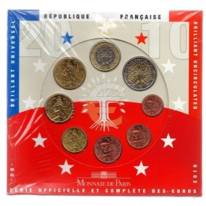 (EUR07.CofBU&FDC.2010.Cof-BU.000000001) Brilliant Uncirculated coin set France 2010 Front (zoom)