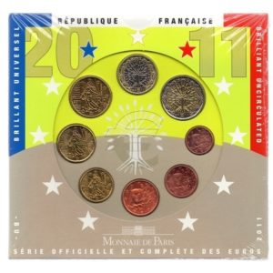(EUR07.CofBU&FDC.2011.Cof-BU.000000001) Brilliant Uncirculated coin set France 2011 Front (zoom)