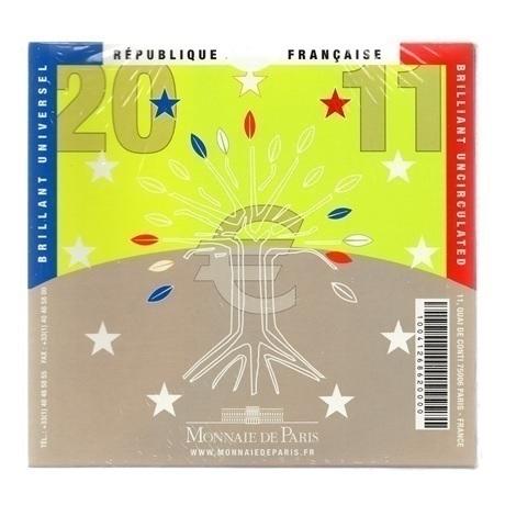 (EUR07.CofBU&FDC.2011.Cof-BU.000000001) Coffret BU France 2011 Verso