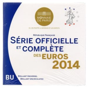 (EUR07.CofBU&FDC.2014.Cof-BU.000000001) Brilliant Uncirculated coin set France 2014 Front (zoom)