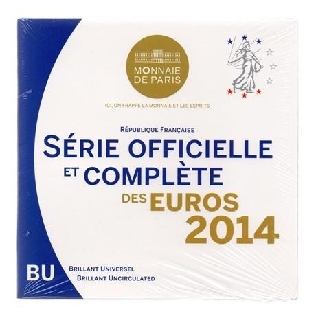 (EUR07.CofBU&FDC.2014.Cof-BU.000000001) Coffret BU France 2014 Recto