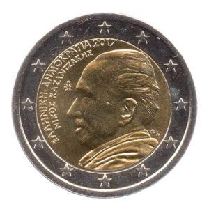 (EUR08.200.2017.COM1.spl.000000001) 2 euro commémorative Grèce 2017 - Nikos Kazantzakis Avers