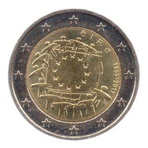 (EUR09.200.2015.COM1.spl.000000001) 2 euro commémorative Irlande 2015 - Drapeau européen Avers