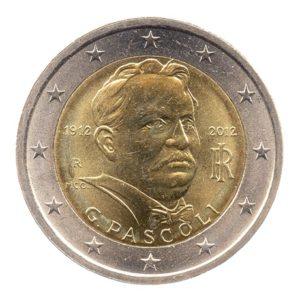 (EUR10.200.2012.COM2.spl.000000001) 2 euro commémorative Italie 2012 - Giovanni Pascoli Avers
