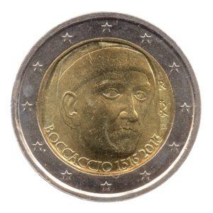 (EUR10.200.2013.COM2.spl.000000001) 2 euro commémorative Italie 2013 - Boccaccio Avers