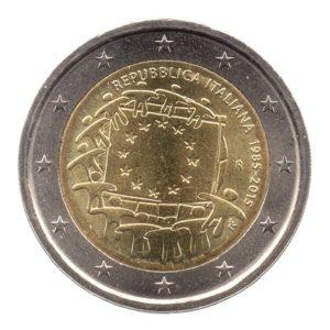 (EUR10.200.2015.COM3.spl.000000001) 2 euro commémorative Italie 2015 - Drapeau européen Avers